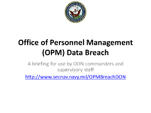 DON Leadership OPM Data Breach Briefing 2015-06-26